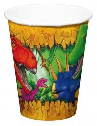 6 Copos de cartão Dinossauros 250 ml
