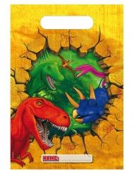 6 Sacos de festa de plástico Dinossauros