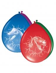 6 Balões de látex coloridos Dinossauros