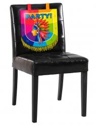 Decoração para cadeira em cartão Índio 38 x 34 cm