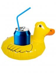 Mini bóia para bebidas Pato amarelo