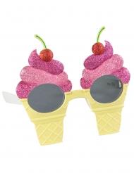 Óculos em forma de gelado adulto