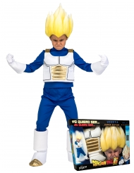 Coffret Disfarce Super Saiyan Vegeta Dragon Ball™ criança com peruca