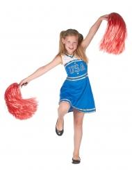 Disfarce Pompom girl azul menina