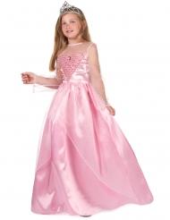 Disfarce princesa cor-de-rosa menina