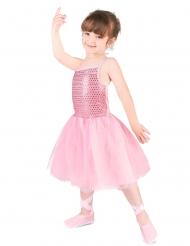 Disfarce dançarina de ballet cor-de-rosa menina