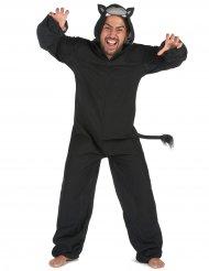 Disfarce macacão pantera preta homem