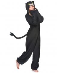 Disfarce macacão pantera preta mulher