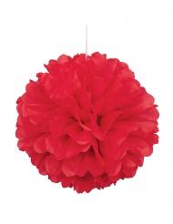 Pompom de pendurar em papel vermelho 40 cm