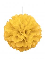 Pompom de pendurar em papel amarelo 40 cm