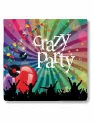 20 Guardanapos de papel Crazy Party 33 x 33 cm