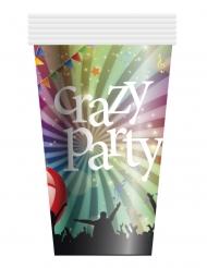 6 Copos de cartão Crzay Party 25 cl