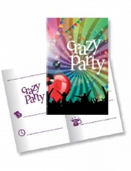10 Convites com envelopes Crazy Party 11 x 22 cm