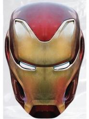 Máscara de cartão Iron Man Avengers Infinity War™ adulto