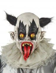 Máscara látex palhaço preto e branco adulto
