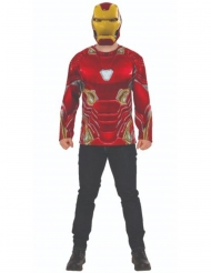T-shirt e máscara Iron Man Infinity War™ adulto