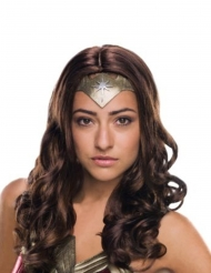 Peruca de luxo Wonder Woman™ adulto