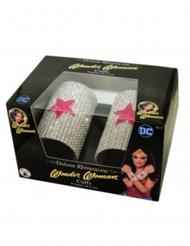 2 Pulseiras de luxo strass Wonder Woman™
