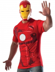 T-shirt com máscara Iron Man™ adulto