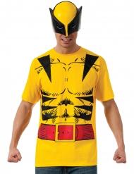 T-shirt com máscara Wolverine™ adulto