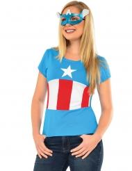 T-shirt e máscara American Dream Captian Amercia™ mulher