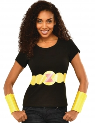 T-shirt e bracelete Viuva Negra™ mulher