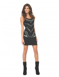Vestido preto Pantera Negra™ mulher