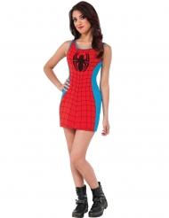 Disfarce vestido vermelho e azul Spider-Girl™ mulher