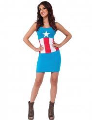 Disfarce vestido American Dream Captian America™ mulher
