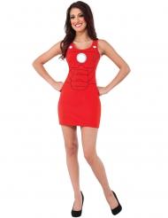 Disfarce vestido vermelho Iron Man™ mulher
