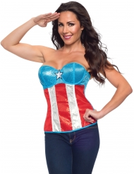 Corpete com lantejoulas Captain America™ mulher