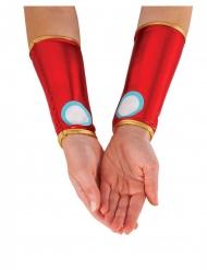 Manguitos metalizados vermelhos Iron Man™ mulher