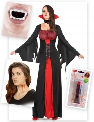 Pack disfarce vampira sangrenta mulher