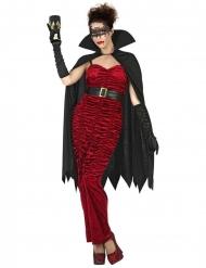 Disfarce condessa vampira vermelha mulher