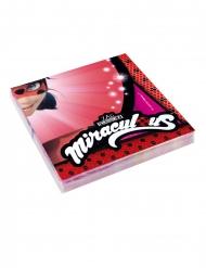 20 Guardanapos de papel Ladybug Miraculous™ 33 x 33 cm