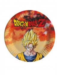 8 Pratos pequenos de cartão Dragon Ball Z™ 18 cm