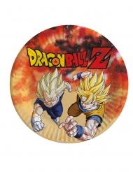 8 Pratos de cartão Dragon Ball Z™ 23 cm