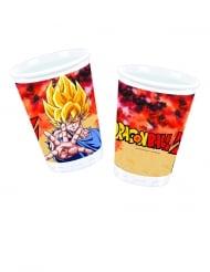 8 Copos de plástico Dragon Ball Z™ 200 ml