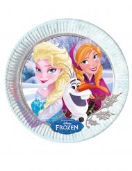 8 Pratos de cartão Frozen™ - carinhos de inverno 23 cm