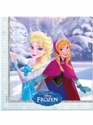 20 Guardanapos de papel Frozen™ - carinhos de inverno 33 x 33 cm