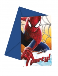 6 Convites The Amazing Spider-Man™ 12 x 12.5 cm