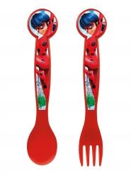 Talheres de plástico Ladybug™ 16 cm