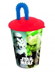 Copo com palhinha de plástico Star Wars™ 400 ml