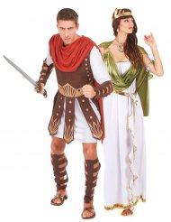 Disfarce de casal gladiador e deusa grega