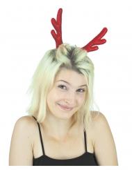 Travessão chifre de rena vermelho mulher