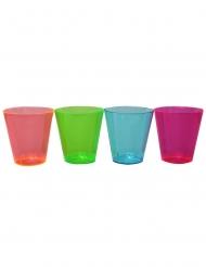 50 Copos shot de plástico coloridos 30 ml