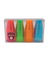60 Copos shot de plástico coloridos 59 ml