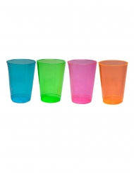 50 Copos de plástico coloridos 296 ml