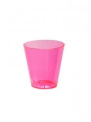 60 Copos shot de plástico cor-de-rosa 59 ml
