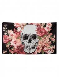 Bandeira de poliéster esqueleto com flores